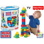 Fisher Price MEGA BLOKS Klocki EKO TORBA 80 el. TV