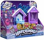 HATCHIMALS ZESTAW BROKATOWY GLITTER SALON FIGURKI