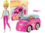 Lalka BARBIE ON THE GO + AUTO POJAZD Z NAPĘDEM TV FHV77