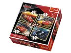 PUZZLE 4w1 CARS 3 Gotowi do wyścigu AUTA NEW TREFL