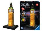 Ravensburger PUZZLE 3D BIG BEN NOCĄ LED 216e NEW