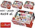 Trefl PUZZLE MINI Disney MINNIE I DAISY 4 x 54 el