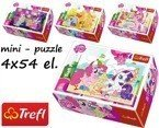 Trefl PUZZLE MINI Kucyki MY LITTLE PONY 4 x 54 el