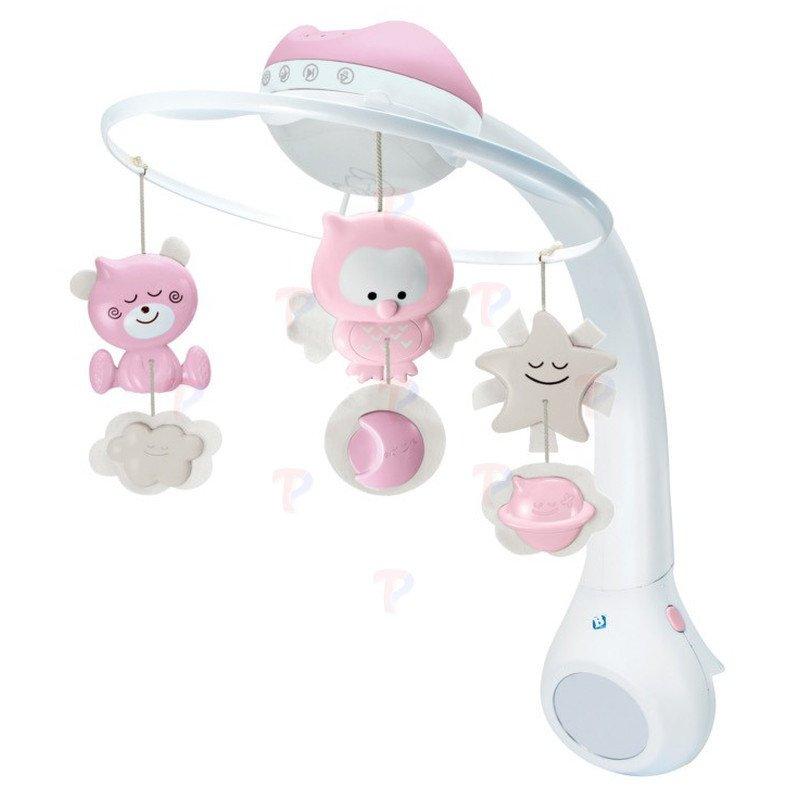b kids muzyczna karuzela projektor lampka 3w1 pink 1800220022 sklep internetowy. Black Bedroom Furniture Sets. Home Design Ideas