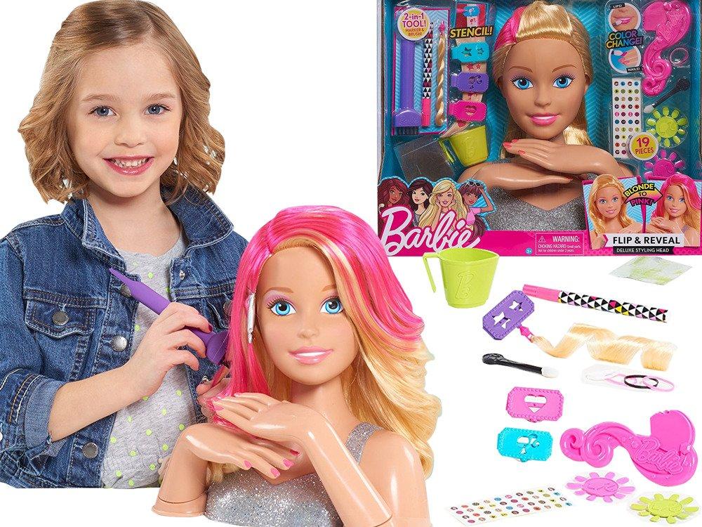 Barbie Lalka Głowa Do Deluxe Stylizacji Farbowania