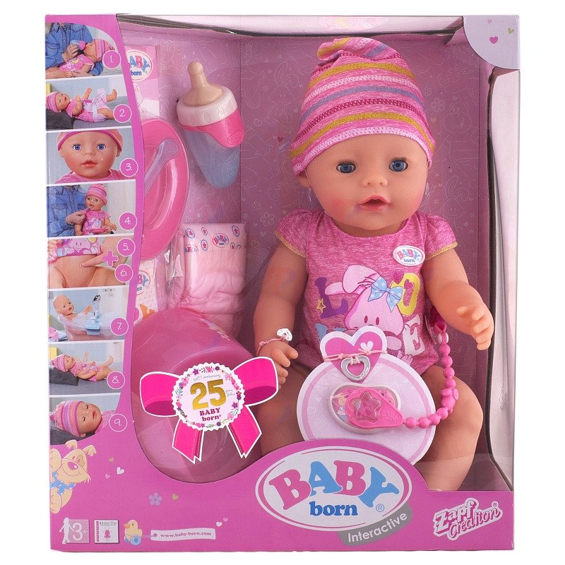 Baby Born Lalka Interaktywna 9 Funkcji Siusia 2016