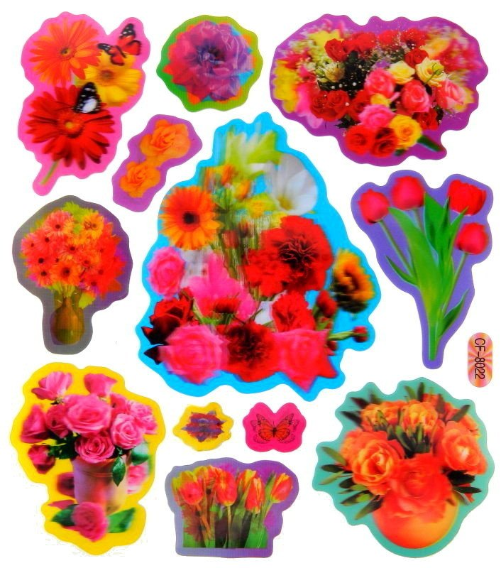 Dekoracje ścienne 3d Pianki Dekoracja Kwiaty 1800215052