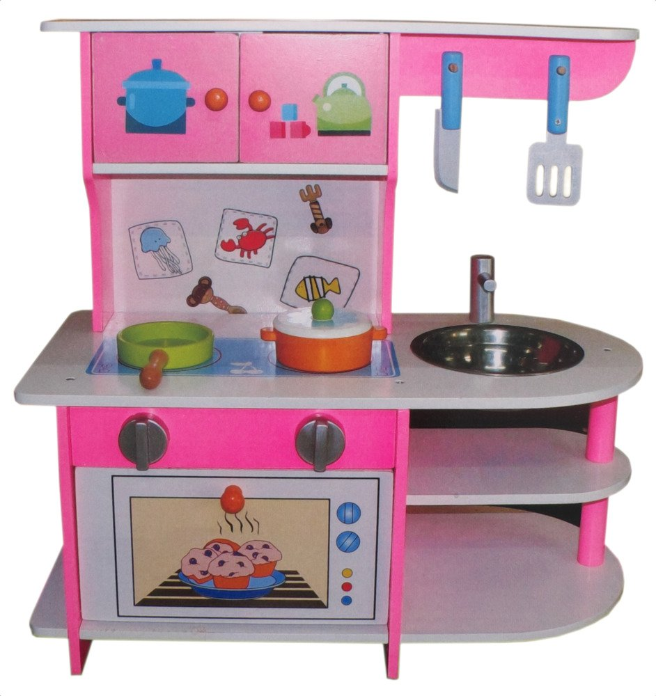 Kuchnia Drewniana Dla Dzieci Zlew Kuchenka Zestaw 1800235777 Sklep