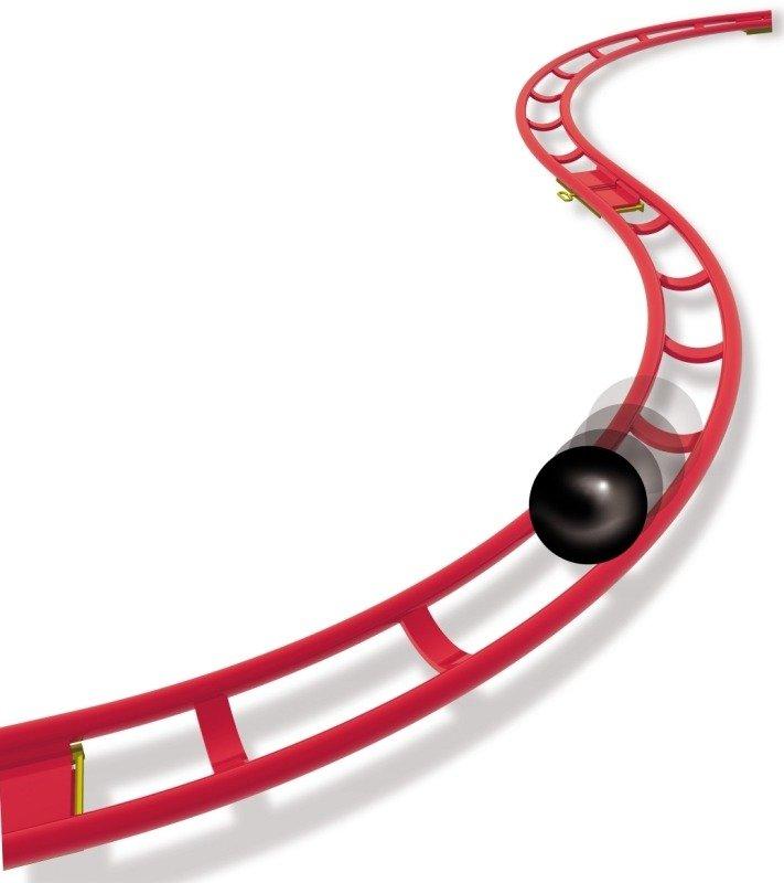 Tor dla kulek Roller Coaster Mini Rail Dobre Zabawki