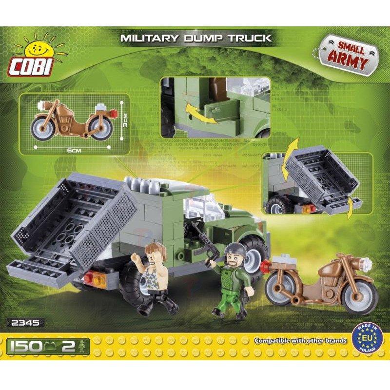 Small army samoch d wywrotka motor klocki cobi 150 for Planet motors on military