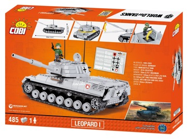 Army KLOCKI WORLD OF TANKS Czołg LEOPARD I Cobi