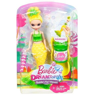 BARBIE DREAMTOPIA BĄBELKOWA SYRENKA DVM97 NEW TV