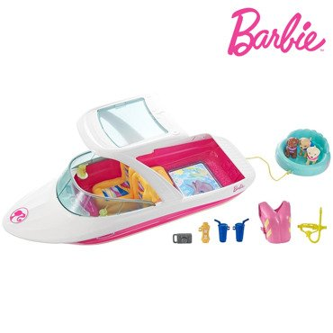 BARBIE WAKACYJNY JACHT Z PIESKAMI DOLPHIN MAGIC