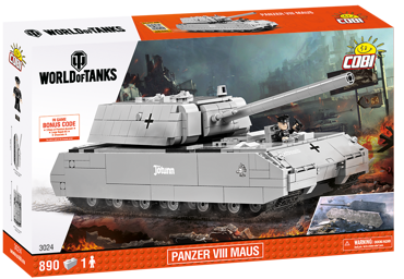 COBI KLOCKI WORLD OF TANKS Czołg PANZER VIII MAUS