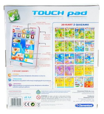 Clementoni TABLET Touch Pad SAPIENTINO Mówi PL-ANG
