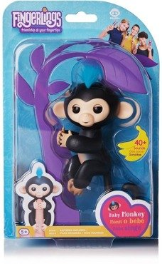 FINGERLINGS INTERAKTYWNA CZARNA MAŁPKA FINN 3701