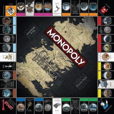 Hasbro Gra MONOPOLY Gra o Tron GAME OF THRONES PL
