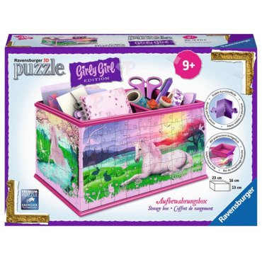 Ravensburger Girly Girl PUZZLE 3D KUFEREK Pojemnik