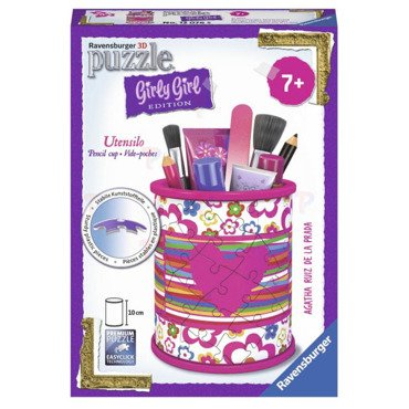 Ravensburger Girly Girl PUZZLE 3D PRZYBORNIK 54el