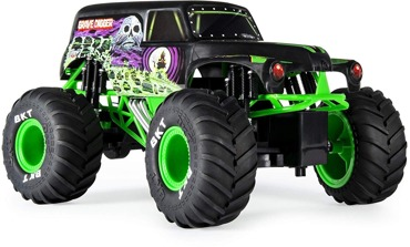 SPIN MONSTER JAM GRAVE DIGGER AUTO STEROWANE RAMPA