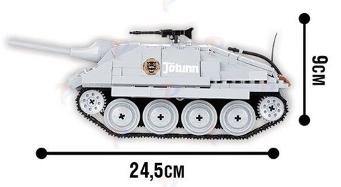 Small Army WORLD OF TANKS CZOŁG HETZER Klocki COBI